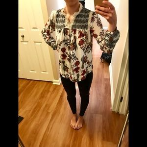 Loft long sleeve blouse size XS